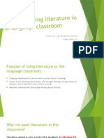 Purpose of Using Literature in the Language Classroom