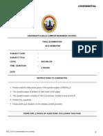 1st Exam Paper Unikl Fbm