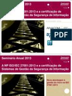 ItSMF PT_CT163_Nova Abordagem à Gestão Do Risco Na ISO 27001 2013_Daniel Caçador