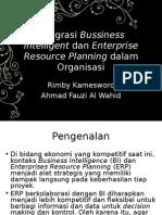Integrasi Bussiness Intelligent Dan Enterprise Resource Planning Dalam Organisasi