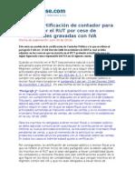 Modelo Certificacion de Contador Para Actualizar El RUT Por Cese de Actividades Gravadas Con IVA