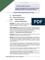 Esp. Tec. Sistema de Agua Potable - Linea Conduccion-01