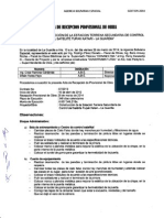 Recepcion Provisional - Estacion Terrena