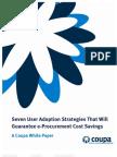 Seven User Adoption Strategies That Will Guarantee e-Procurement Cost Savings
