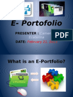 E-Portfolio by Camenschi Ecaterina
