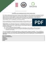 Global UGRAD Recommendation Form