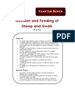 Nutrition and Feeding of Sheep and Goats
