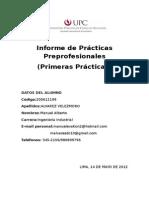 Informe de Practicas LAN Perú S.a. 2012