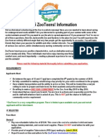 ZooTeens 2015 Application