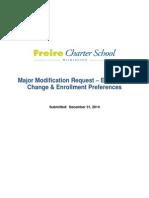 Freire -- Delaware DOE Charter Modification Application