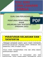 Peraturan-peraturan Pegawai Awam (Kelakuan Dan Tatatertib)1993 (Pindaan 2002)