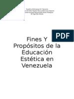 Fines y Propositos de la Educacion Estetica