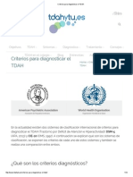 Criterios Para Diagnosticar El TDAH