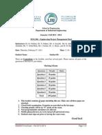 IENG300 Final Questions - Fall 2013