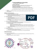 Human immunodeficiency virus /AIDS