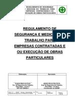 Regulameto de Segurança_Atualizado Em Outubro de 2013