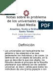 el problema de los universales notas preliminares