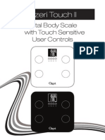 Ozeri Touch II Total Body Scale - ZB13 User's Manual