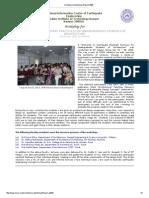 Architecure Workshop Report-2008