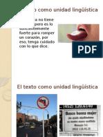 El Texto Como Unidad Lingüística