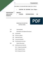 (05) MEMORIA Estructuras
