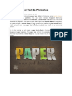 Create a Paper Text in Photoshop