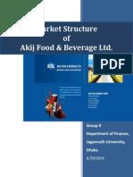 Market Structure of Akij Foods Bebarage Ltd.-libre