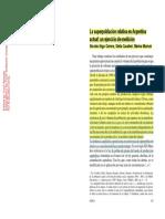 Ejercicio medición de superpoblación relativa en Argentina