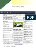 Utilisation Du Nouveau Champ Video de Webdev 15