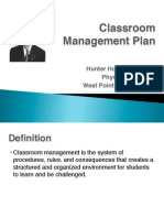 classroom management plan - holt