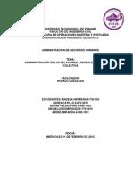 Adminnistración de Las Relaciones Laborales y Negociación Colectiva