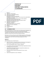 Unit 9 Applications of Polarography, Amperometric Titrations and Voltammetry