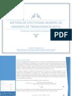 METODO DE EFECTIVIDAD-NUMERO DE UNIDADES DE TRANSFERENCIA (NTU).