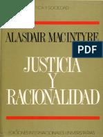 MacIntyre, Justicia y Racionalidad (1994)
