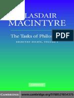 MacIntyre, The Tasks of Philosophy, Vol. 1 Selected Essays (2006)