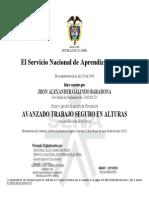Certificado Alturas Galindo