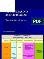 Ausencias No Justificadas Tramitacion