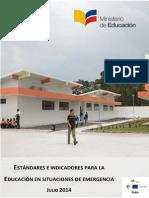 Estandares en Emergencia Educación
