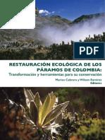 Restauracion ecologica de los Paramos de Colombia