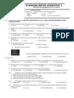 Soal UAS SBK Semester 1 SD Kelas 6
