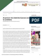 19-02-15 Al parecer Ana Gabriela Guevara será la candidata