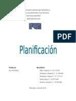 Trabajo de La Planificacion