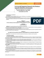 Reglamento Ley Del Impuesto General a Las Ventas