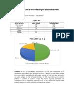 Análisis de La Encuesta Dirigida a Los Estudiantes