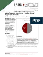 Angus Reid Institute Survey on Bullying, Canada