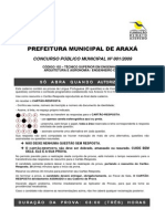Prova Prefeitura de Araxa