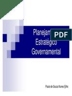 Planejamento Estratégico Governamental - Parte 1