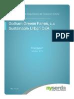 Gotham Greens Sustainable Urban CEA