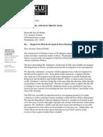 ACLU Request for DOJ Investigation