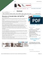 20-02-15 El Diario de Coahuila - Reconoce El Senado Labor Del Ejército